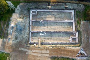 Luchtfoto bouwplaats MFA Lemmer 14 april 2016