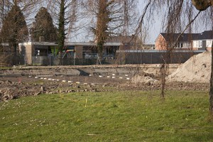 Foto bouwplaats MFA Lemmer 4 april 2016