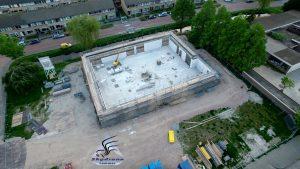 Luchtfoto bouwplaats MFA Lemmer 12 mei 2016
