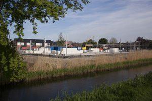 Foto bouwplaats MFA Lemmer 9 mei 2016