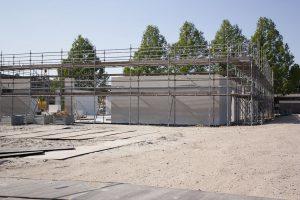 Foto bouwplaats MFA Lemmer 11 mei 2016