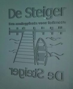 Glasgravure logo Wijkvereniging De Steiger
