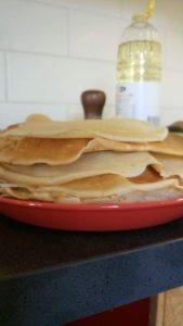 Stapel gebakken pannenkoeken
